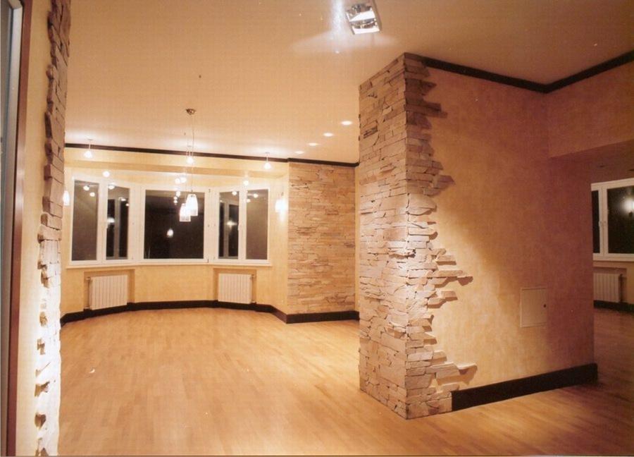 Стены из декоративного камня фото